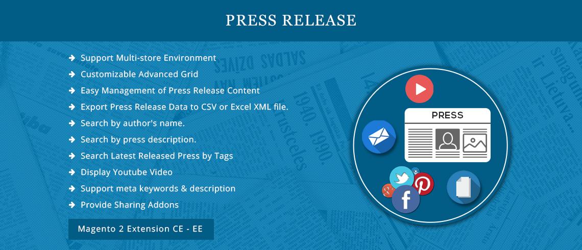 Press Release - Magento 2 Extension | Documentation