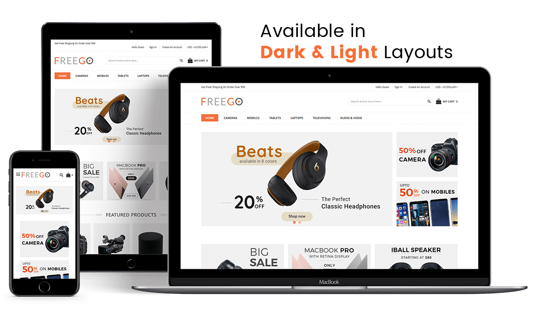 FreeGo - Free Responsive Theme for Magento® 2